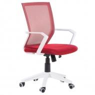 Krzesło biurowe czerwone regulowana wysokość Ricci