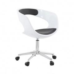 Krzesło biurowe Felix Kokoon Design biało-czarny