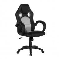 Krzesło biurowe szare regulowana wysokość Greco