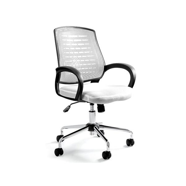 Krzesło biurowe UNIQUE Award białe W-120-0