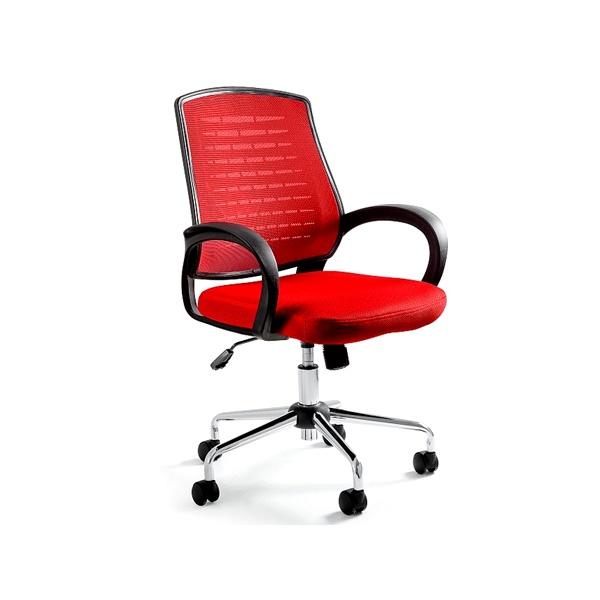Krzesło biurowe UNIQUE Award czerwone W-120-2