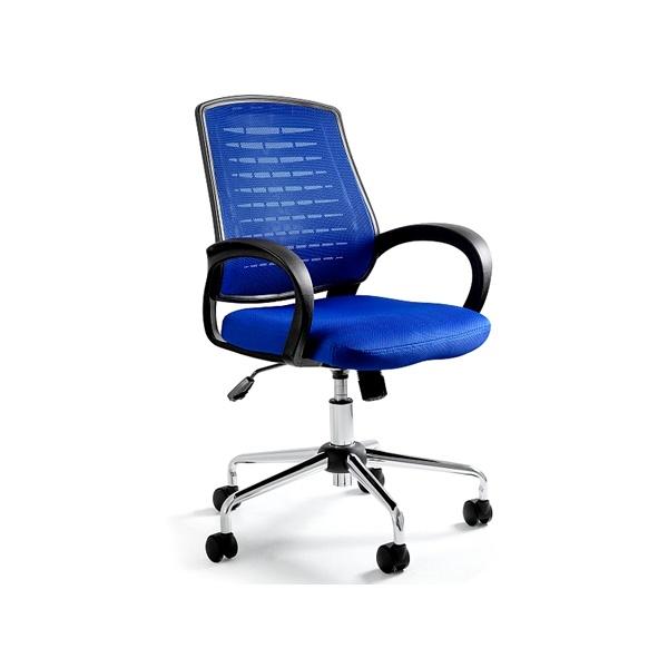 Krzesło biurowe UNIQUE Award niebieskie W-120-7