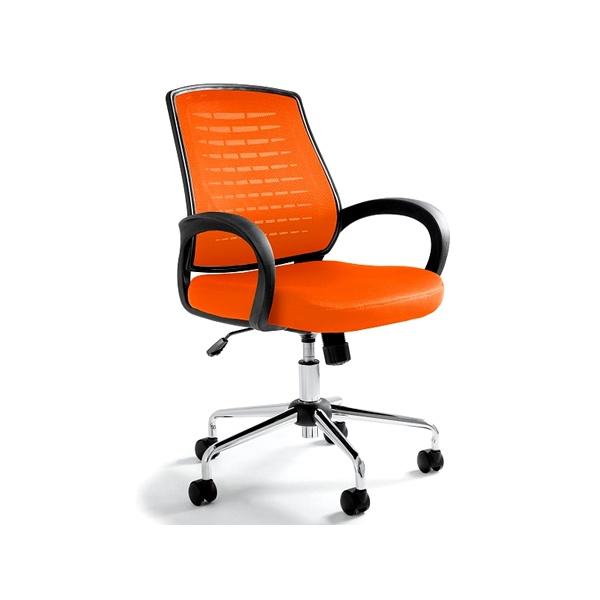 Krzesło biurowe UNIQUE Award pomarańczowe W-120-5