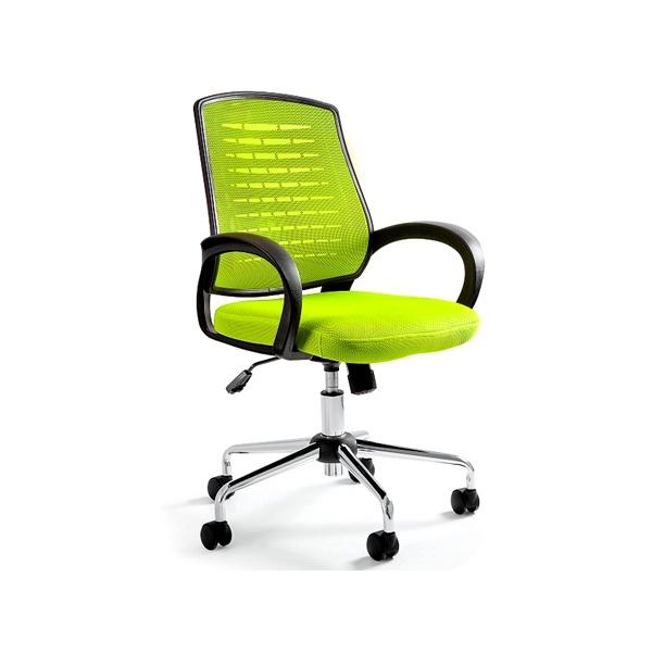 Krzesło biurowe UNIQUE Award zielone W-120-9