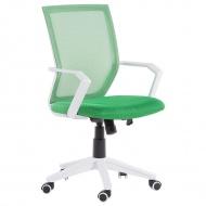 Krzesło biurowe zielone regulowana wysokość Ricci