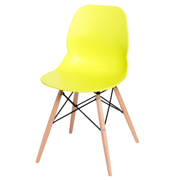 Krzesło D2 Layer DSW limonkowe DK-71053