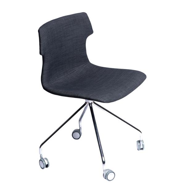Krzesło D2 Techno Roll tap. grafitowe DK-63802