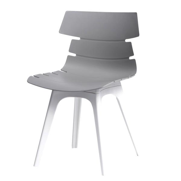 Krzesło D2 Techno szare, podstawa biała DK-63922
