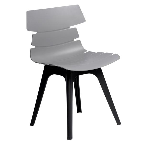 Krzesło D2 Techno szare, podstawa czarna 5902385703512