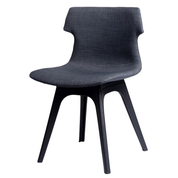 Krzesło D2 Techno tapicerowane grafitowe, podstawa czarna DK-63972