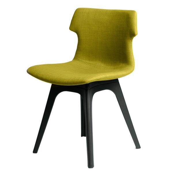 Krzesło D2 Techno tapicerowane oliwkowe podstawa czarna 5902385709699