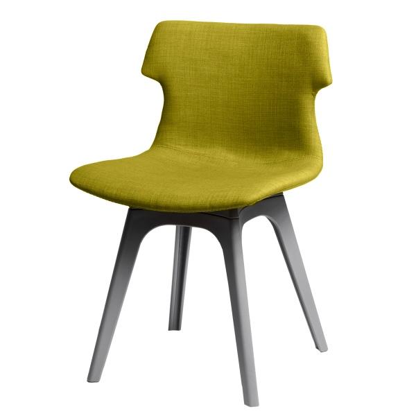 Krzesło D2 Techno tapicerowane oliwkowe podstawa szara 5902385704618