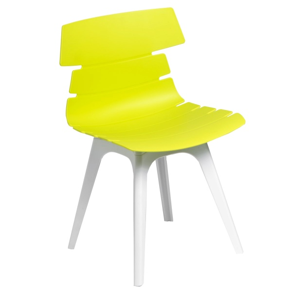 Krzesło D2 Techno zielone, podstawa biała 5902385701372
