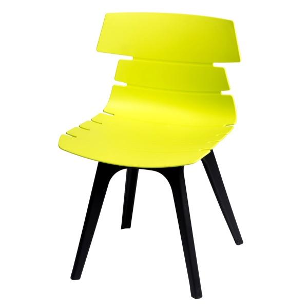 Krzesło D2 Techno zielone, podstawa czarna 5902385705561