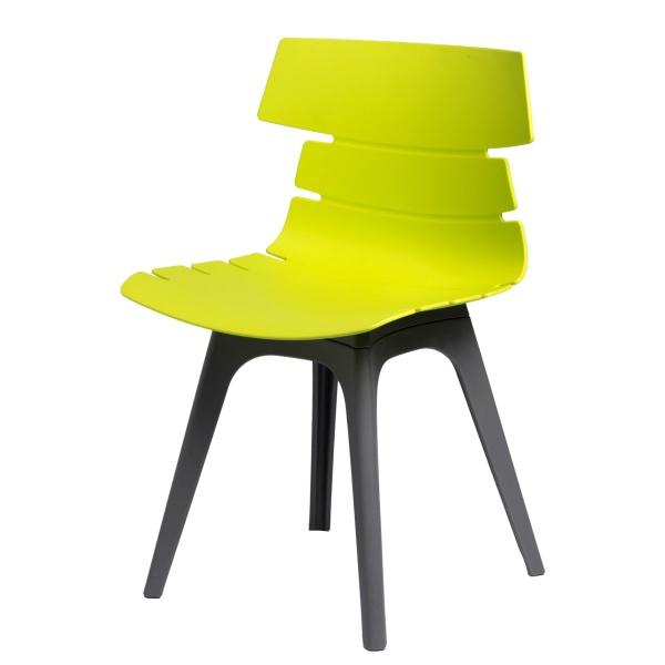 Krzesło D2 Techno zielone, podstawa szara DK-63937