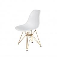 Krzesło DSR Gold King Home białe
