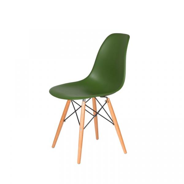 Krzesło DSW Wood King Bath butelkowa zieleń K-130.TARMAC.27.DSW