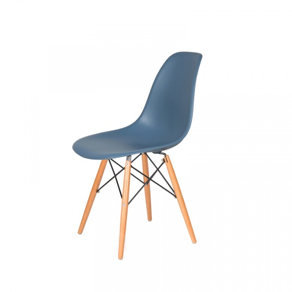 Krzesło DSW Wood King Bath chabrowy niebieski K-130.CORFLO.31.DSW