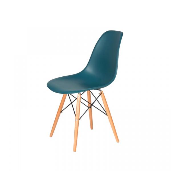 Krzesło DSW Wood King Bath marynarski niebieski JU-K130.DSW.NAVY.GREEN.23