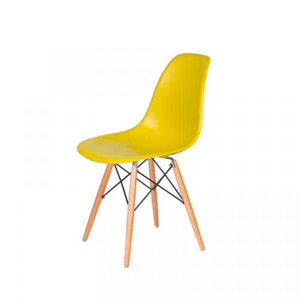 Krzesło DSW Wood King Bath oliwkowe JU-K130.DSW.DARK.OLIVE.20