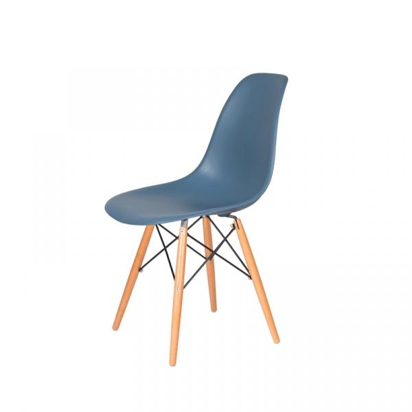 Krzesło DSW Wood King Bath pastelowy niebieski JU-K130.DSW.STALE.26