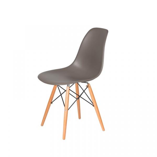 Krzesło DSW Wood King Bath popielaty szary JU-K130.DSW.MILD.GREY.17