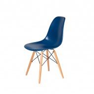 Krzesło DSW Wood King Home atramentowy niebieski