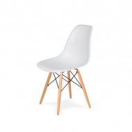Krzesło DSW Wood King Home białe