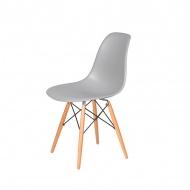 Krzesło DSW Wood King Home jasny platynowy