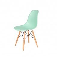Krzesło DSW Wood King Home pastelowa mięta