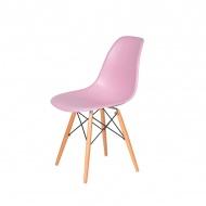 Krzesło DSW Wood King Home pastelowy róż