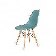Krzesło DSW Wood King Home pastelowy turkus