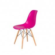 Krzesło DSW Wood King Home wściekły róż
