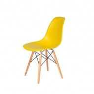 Krzesło DSW Wood King Home żółty słoneczny