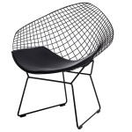 Krzesło HarryArm czarne poduszka czarna