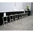 Krzesło/hoker King Bath Miura biały CT-218.BIALY