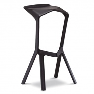Krzesło/hoker King Bath Miura czarny