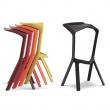 Krzesło/hoker King Bath Miura czarny CT-218.CZARNY