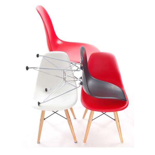Krzesło JuniorP016 czerwone, drew. nogi DK-10303