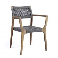 Krzesło Karen 57x60x83 cm Miloo Home brązowo-szare