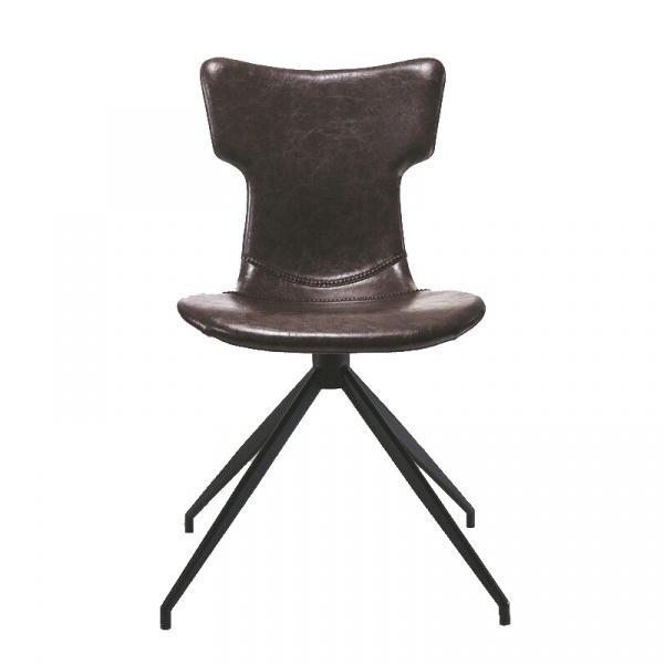 Krzesło King Bath Bufalo ekoskóra czarne nogi EC-14027