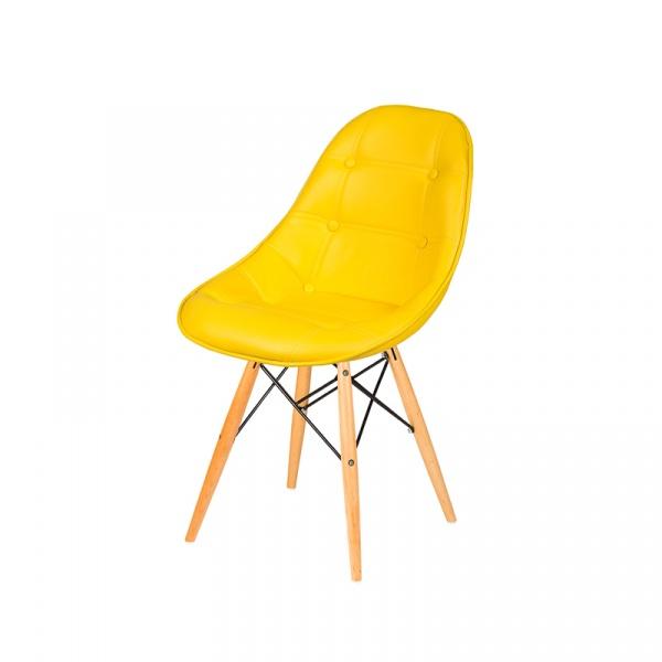 Krzesło King Bath DSW żółty słoneczny LI-KK-132PU.ZOLTY