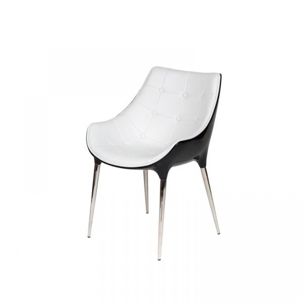 Krzesło King Bath Philippe Passion czarno-białe EV-KA-051.B-CZ