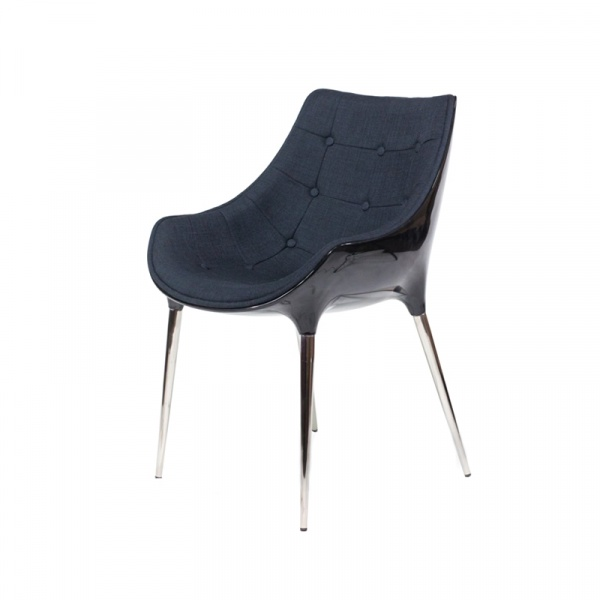 Krzesło King Bath Philippe Passion tkanina czarna EV-KA-051.CZ