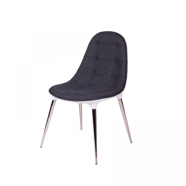 Krzesło King Bath Philippe Passion tkanina szara A-062.SZ.B