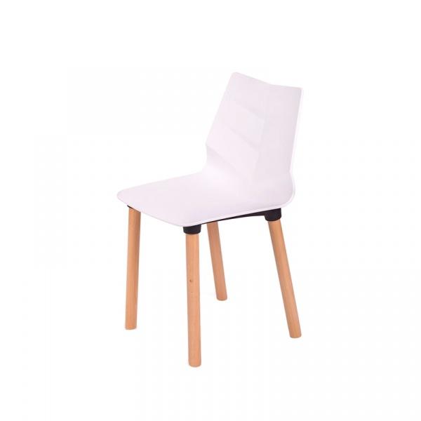 Krzesło King Bath Shark Wood białe SI-K-LEAF05W.BIALY