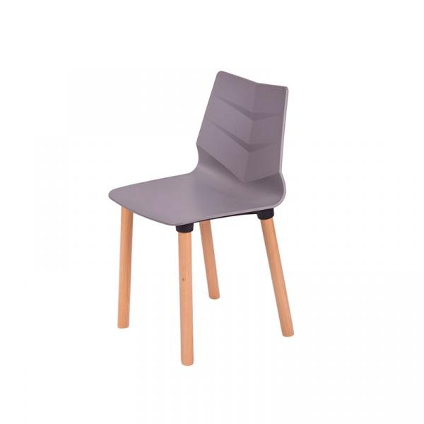 Krzesło King Bath Shark Wood szare LEAF05W.SZARY