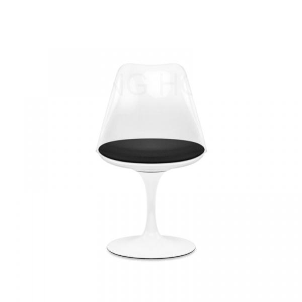 Krzesło King Bath Tulip biało-czarne JU-K147.CAS.WHITE+BLACK