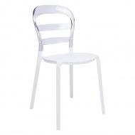 Krzesło King Home Carmen przezroczysto-białe
