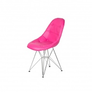 Krzesło King Home Eames EPC DSR ekoskóra wściekły róż